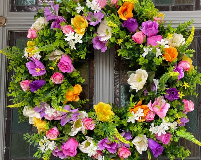 Ready to send New Colourful Spring/Summer wreath - available with or without carrot