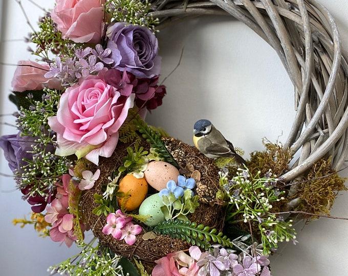 Birds Nest Faux Spring Wreath
