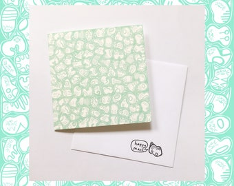 Cat Blank Greeting Card (140mmx140mm)