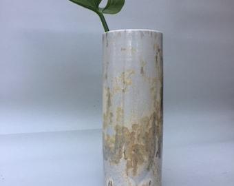 Porcelain vase with crystallized enamel.