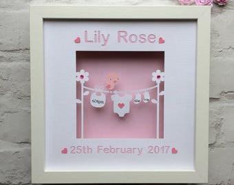 Girls personalized baby shower gift baby name gifts for new personalised baby gift baby girl gift new baby gift baby keepsake gift birth announcement papercut nursery wall art personalised gift negle Gallery