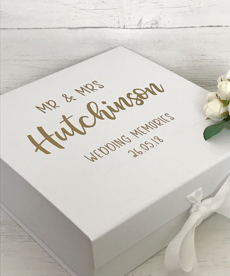 Wedding Memory Box Personalised Wedding Keepsake Box Personalised Wedding Gift Wedding Memories Box Wedding Gift Gift For Couple