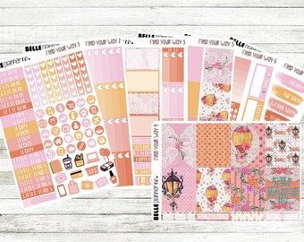 Find Your Way Weekly Sticker Kit for Erin Condren, Happy Planner, Filofax, Kikki K etc