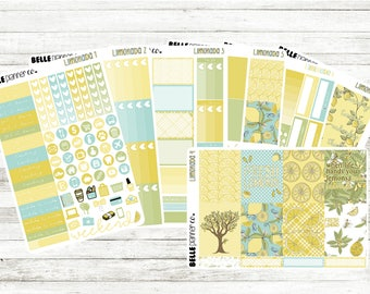 Limonada Weekly Sticker Kit for Erin Condren, Happy Planner, Filofax, Kikki K etc