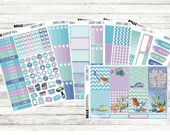 SALE 15% OFF Siren Song Weekly Sticker Kit for Erin Condren, Happy Planner, Filofax, Kikki K etc