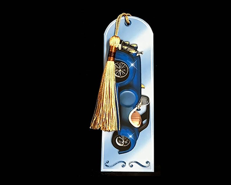 handmade bookmark card car automobile birthday card get well card thinking of you miss you for dad for husband for grandfather for men
