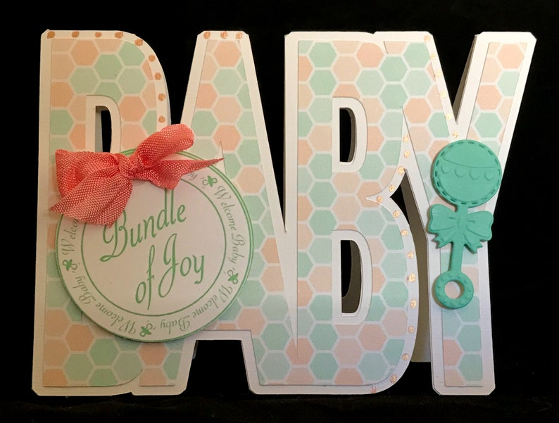 Baby Girl Baby Card Expecting Baby Shower Card Handmade Baby Boy Adoption Card Pregnancy New Parents