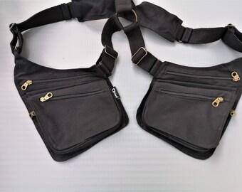Holster bag // Revolver Bag // unisex cotton vest gilet // woman man utility shoulder bag // Unisex Body wallet //