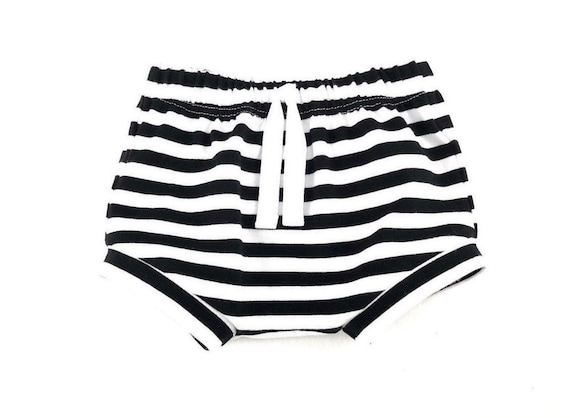 Infant Diaper Cover Gender Neutral Bummies Dots and Stripes Baby Shorts