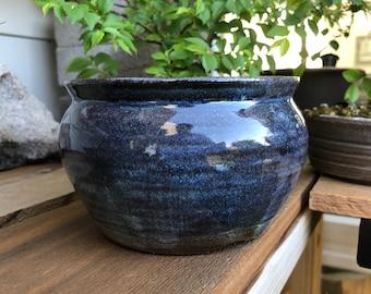 "Round Bonsai Pot - Blue Namako  5.5"" x  3.25"""