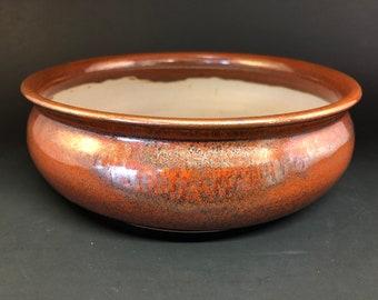 """Round Bonsai Pot - Red Beauty 8"""" x 2.75"""""""