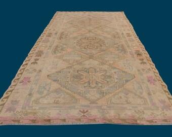 Vintage Kilim,Soumak Rug,Turkish Soumak,Caucasian Soumak,Caucasian Kilim,Sumak Rug,Decorative Large Soumak,4'10x8'5ft /148x257cm
