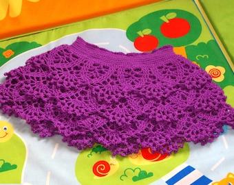 Crochet Skirt Baby Skirt Toddler Skirt Kids Gift Children Skirt Lace Skirt Girl Skirt Baby Outfit Gift for Baby Ruffle Skirt Birthday Skirt