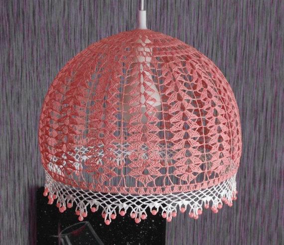 Pendant Light Hanging Lamp Crochet Chandelier Bedroom Lighting Etsy