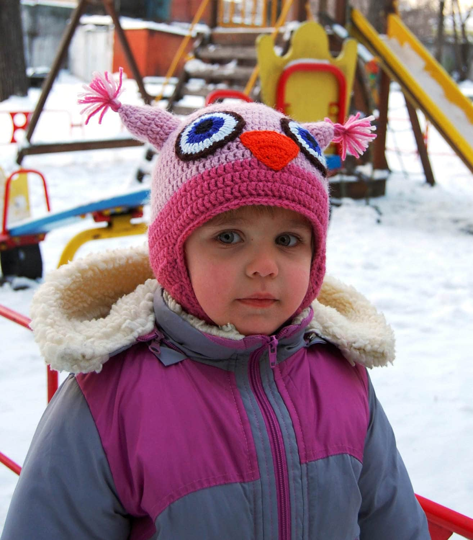 Kind Mütze Hut Kinder Hut häkeln Hut Kleinkind Hut Eule Hut