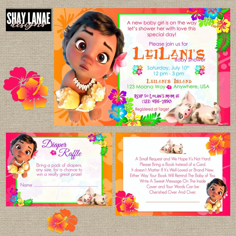 Baby Moana Baby Shower Invitation// Baby Shower Packages// image 0