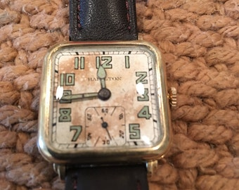 Hamilton gold filled from 1929 Art Deco style runs