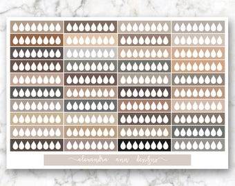 Hydration Multicolor Planner Stickers // Neutral Colors