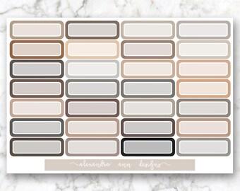 Quarter Box Multicolor Planner Stickers // Neutral Colors