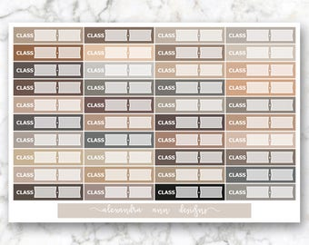 Class Labels Multicolor Planner Stickers // Neutral Colors
