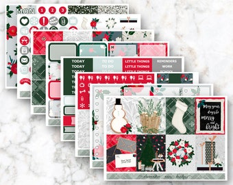 Home for the Holidays Weekly Planner Sticker Kit
