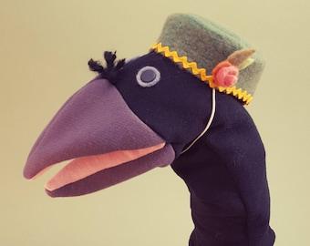 Hand Puppet- Fancy Crow