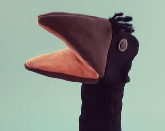 Hand Puppet- Crow