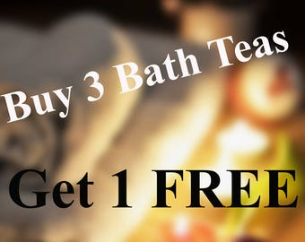 Buy 3 Get 1 Free Herbal Bath Tea Tub Tea Soak - Natural Detox Organic Herbs Flowers-  Discount - Luxury Spa Gift -
