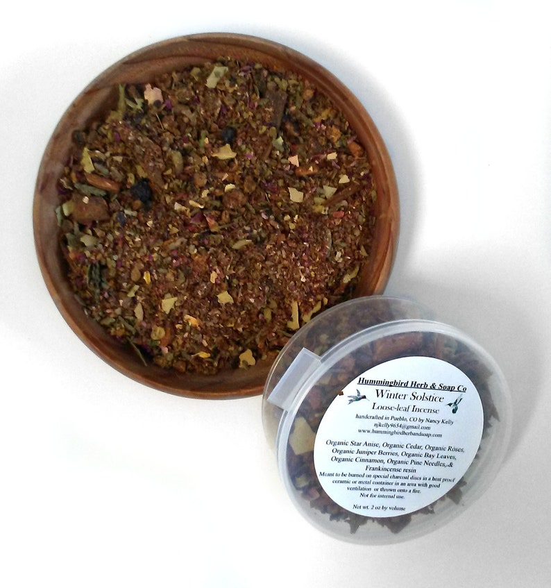 Organic Loose Herb Incense Spice Blend - Herbal Cleansing Aromatherapy  Space Clearing Healing Ritual Ceremonial House Smudge - Free Shipping
