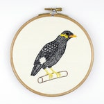 Bird image - embroidered BeO in the hoop