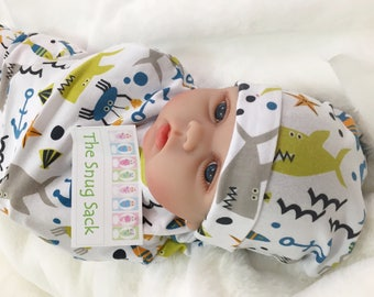 Baby Swaddle Sack (Under the Sea)
