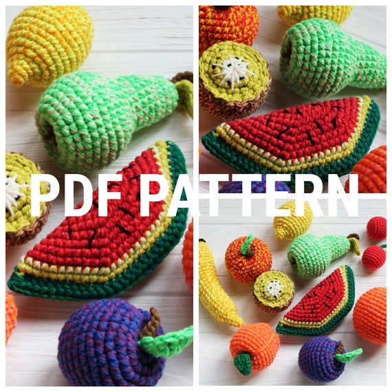 Amigurumi watermelon slice pattern | Amigurumi Space | 570x570
