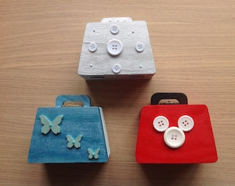 Wooden Handbag Trinket Boxes