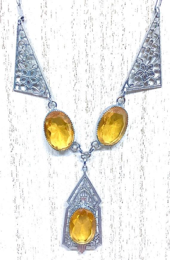 Antique Edwardian Necklace, Edwardian Necklace, F… - image 2