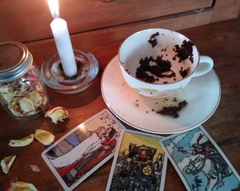 Tea + 3 Tarot Card and Tea Leaf Psychic Reading email & PDF file