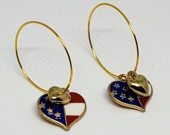 This is America Heart Hoop Earrings