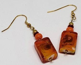 Orange Fired Up Earrings