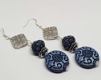 Cornflower Blue Oriental Explorer Earrings