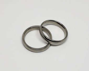 Stainless Steel Bands Size 8 Wedding Bands Men's Rings
