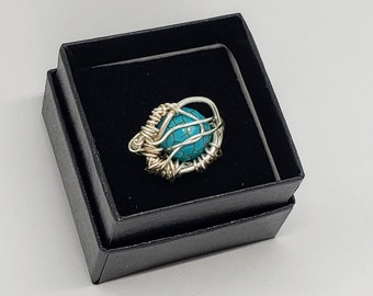Eye On The Sky Wire Wrapped Ring