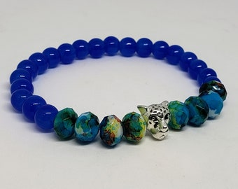 Slim Fit Blue Cheetah Bracelet