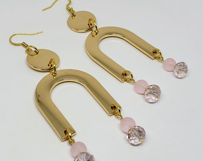 Featured listing image: Gold Tone U Shape Earrings