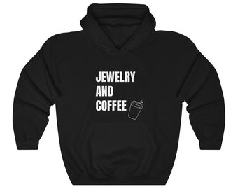 Jewelry and Coffee Unisex Heavy Blend Hooded Sweatshirt