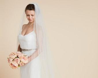 Lace Wedding Veil, 'Hermione', Lace Veil, Floor length veil, Chapel length veil, Cathedral length, Lace Applique Veil, Plain Bridal Veil
