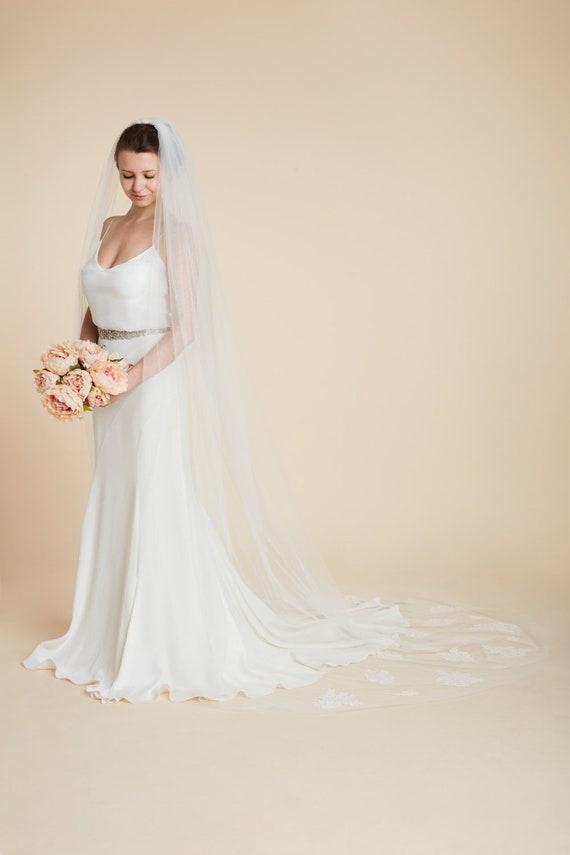 Lace Wedding Veil Hermione Lace Veil Floor Length Etsy