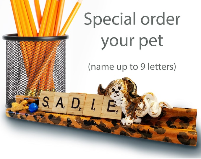 Personalized Scrabble Pet Sculpture