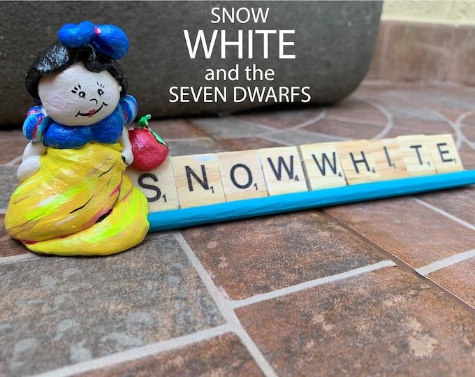 Snow White Scrabble Art