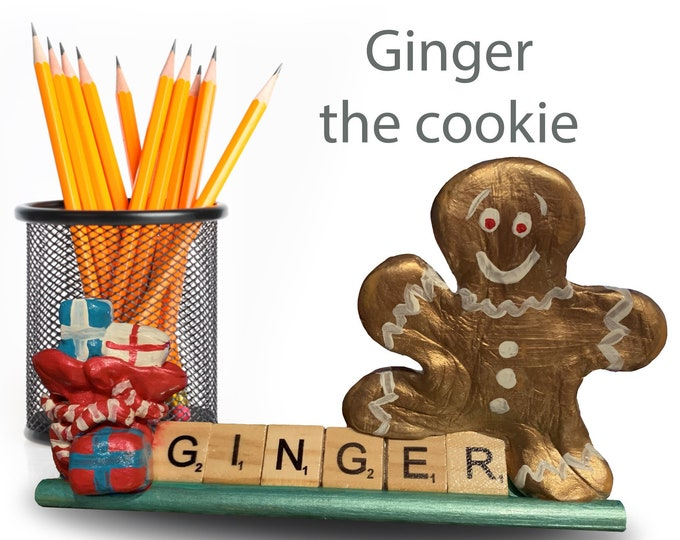Scrabble Ginger the cookie