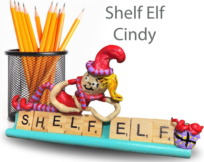 Scrabble Shelf Elf Cindy