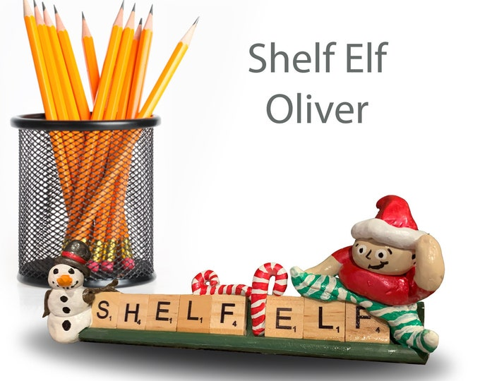 Elf Shelf Funny Office Desk Accessories Shelf Decor Books Unique Sculpture Holiday Gift Christmas Decorations Office Desk Accessories Gifts